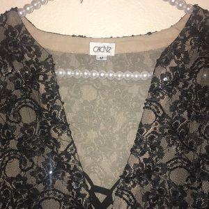 Cache Tops - Used Cache Women's black Top
